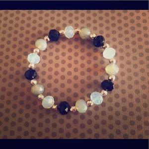 Custom made black scale ombré bracelet